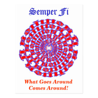 Semper Fi Ambigram Postcard