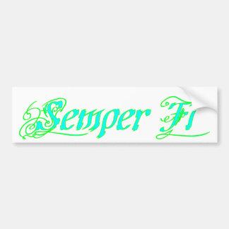 Semper Fi Bumper Sticker