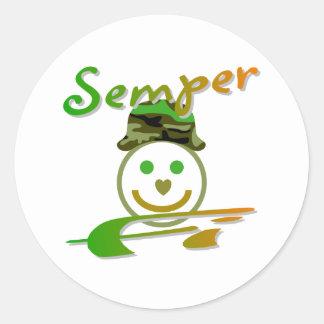 Semper Fi Classic Round Sticker