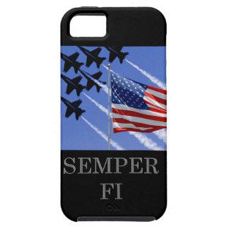 Semper Fi con iCase de la bandera iPhone 5 Protectores