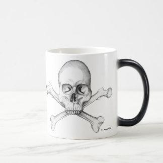 Semper Fi - Cráneo y bandera pirata Tazas De Café