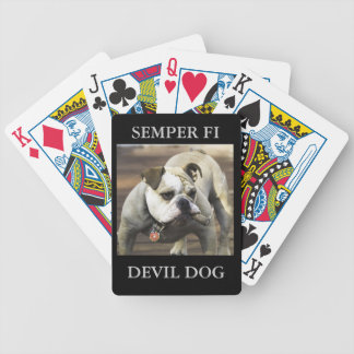SEMPER FI / Devil Dog Bicycle Playing Cards