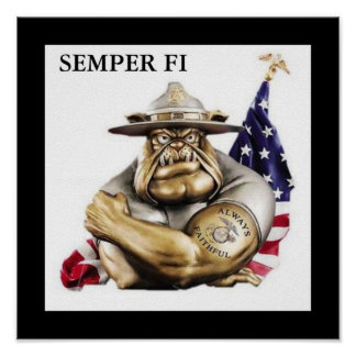 Semper Fi Devil Dog Poster