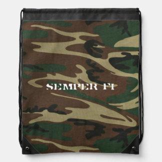 Semper Fi Drawstring Bag