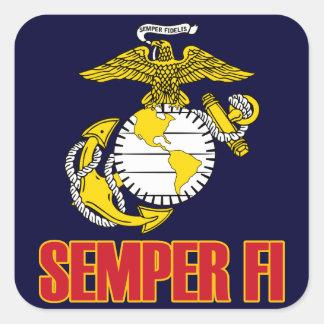 Semper Fi [EGA] Pegatina Cuadrada