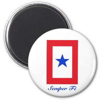 Semper Fi - Family Flag 2 Inch Round Magnet