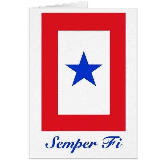 Semper Fi - Family Flag Card