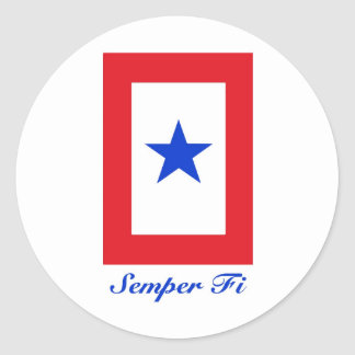 Semper Fi - Family Flag Classic Round Sticker