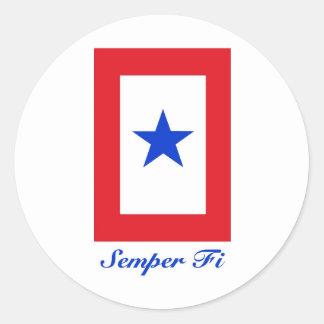 Semper Fi - Family Flag Stickers