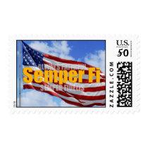 Semper Fi Patriotic Postage