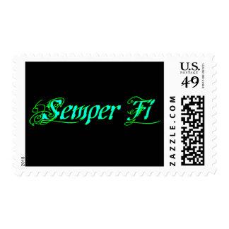 Semper Fi Postage Stamp
