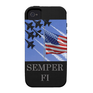 Semper Fi with flag iCase iPhone 4/4S Case