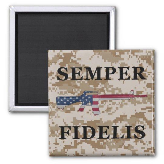 Semper Fidelis M16 Magnet Tan