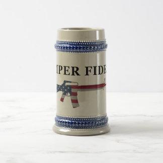 Semper Fidelis M16 Stein Jarra De Cerveza