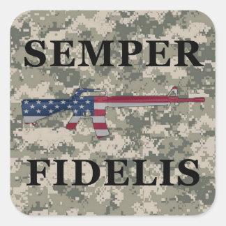 Semper Fidelis M16 Sticker ACU