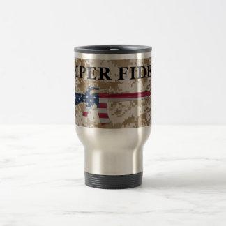 Semper Fidelis M16 Travel Mug Tan