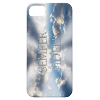 Semper Fidelis y nubes Funda Para iPhone 5 Barely There