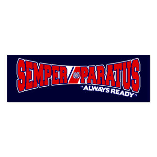 Semper Paratus - Always Ready Double-Sided Mini Business Cards (Pack Of 20)