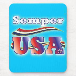 Semper USA America Stripes Stars Office Mousepad