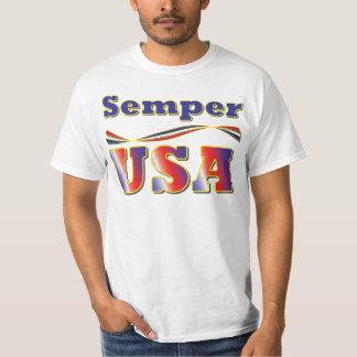 Semper USA Tee America Stripes T-Shirt