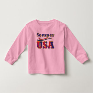 Semper USA Tee America Stripes T-Shirts for Kids