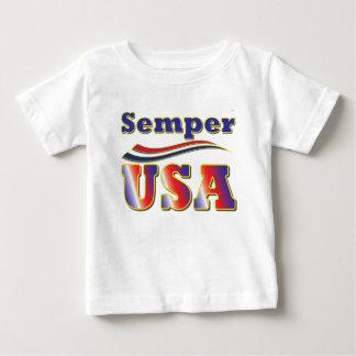 Semper USA Unique Tee America Stripes T-Shirt