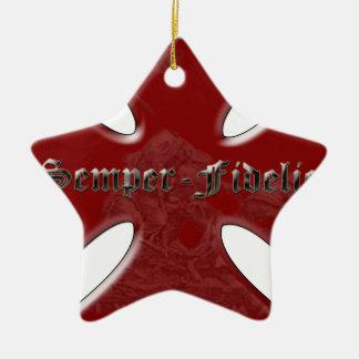 SemperFidelisCross.png Ornamento Para Arbol De Navidad