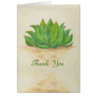Sempervivum thank you card
