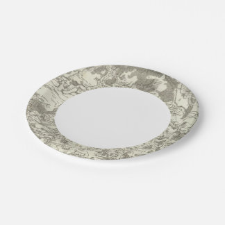 Semur, Montbard 7 Inch Paper Plate
