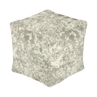 Semur, Montbard Cube Pouf