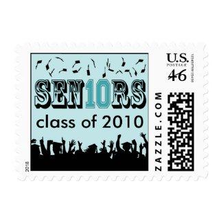 Sen10r Graduation Class of 2010 Postage (aqua) stamp