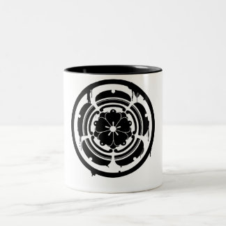sen.seal.(black) Two-Tone coffee mug