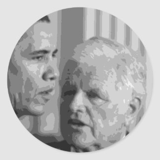 Sen.'Teddy' Edward Kennedy Round Stickers