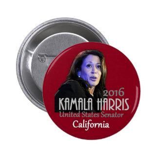 Senado 2016 de Kamala Harris Pin Redondo De 2 Pulgadas
