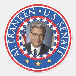 Senado de Franken los E.E.U.U. del Al Pegatina Redonda