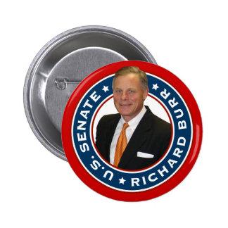 Senado de los E.E.U.U. de las rebabas de Richard Pin Redondo 5 Cm