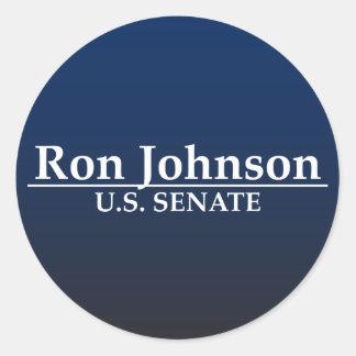 Senado de Ron Johnson los E.E.U.U. Pegatina Redonda