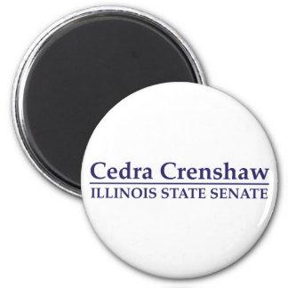 Senado del estado de Cedra Crenshaw Illinois Imán De Frigorifico