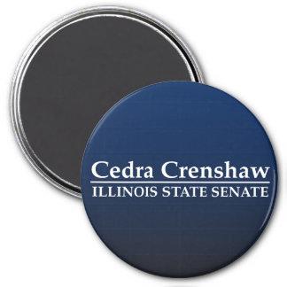 Senado del estado de Cedra Crenshaw Illinois Imán Redondo 7 Cm