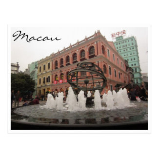 senado macau colors postcard