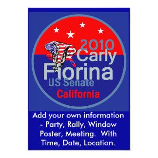 """Senador 2010 de Fiorina Invitation Invitación 5"""" X 7"""""""