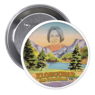 Senador Amy Klobuchar de Minnesota para el Pin Redondo De 3 Pulgadas