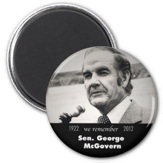 Senador George McGovern 1922-2012 Imán Redondo 5 Cm