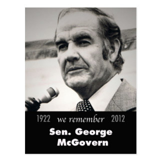 Senador George McGovern 1922-2012 Postales