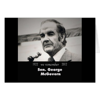Senador George McGovern 1922-2012 Tarjeta De Felicitación