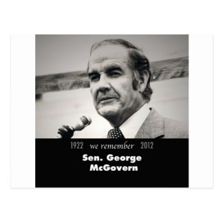 Senador George McGovern 1922-2012 Tarjeta Postal