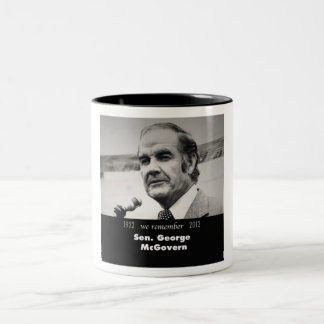 Senador George McGovern 1922-2012 Taza De Dos Tonos