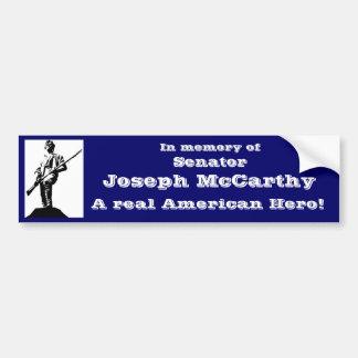 Senador José McCarthy Pegatina Para Auto