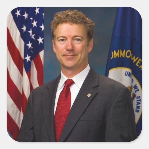 Senador oficial Rand Paul Portrait de Kentucky Calcomanias Cuadradas
