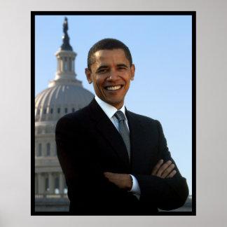 Senador Portrait de presidente Barack Obama Poster
